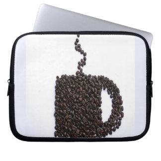 Coffee Cup, Coffee Beans Computer Sleeve