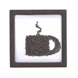 Coffee Cup, Coffee Beans Jewelry Box