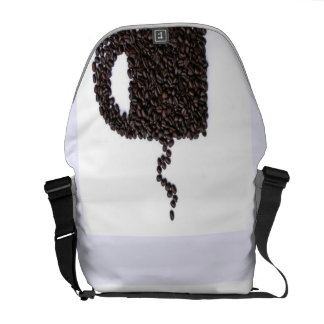 Coffee Cup, Coffee Beans Messenger Bag
