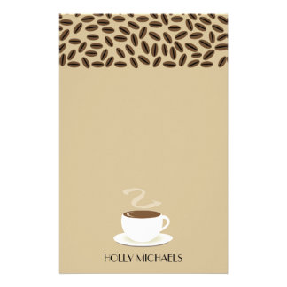 Coffee Cup & Coffee Beans Stationery