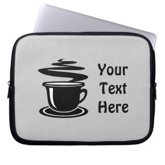 Coffee Cup (customizable( Computer Sleeves