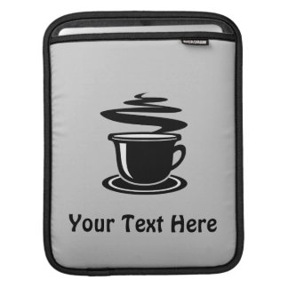 Coffee Cup (customizable( Sleeves For iPads
