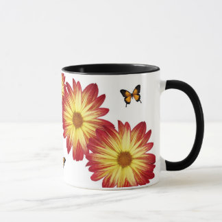 Coffee Cup For Mum,with Flowers and Butterflys .