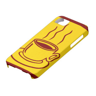 Coffee Cup Graphic Design iPhone SE/5/5s Case