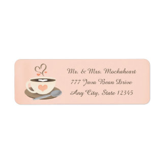 Coffee Cup Heart Label