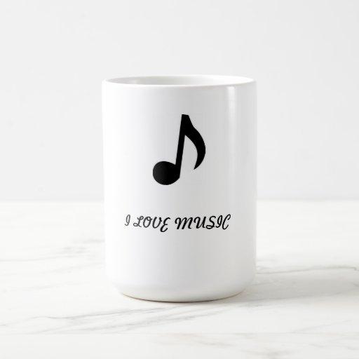 coffee cup(i Love Music) Coffee Mugs