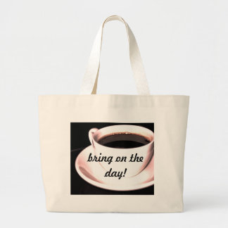 Coffee Cup Jumbo Tote Bag