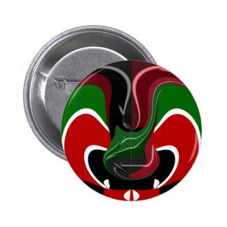 Coffee cup Kenya Flag Hakuna Matata 2 Inch Round Button