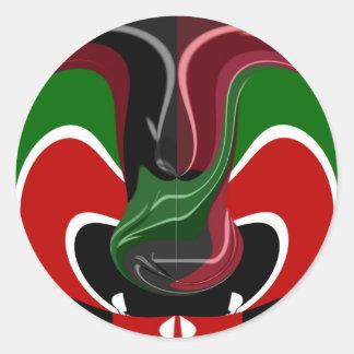Coffee cup Kenya Flag Hakuna Matata Classic Round Sticker