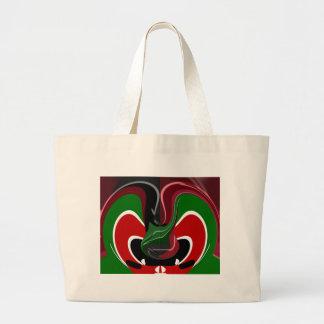 Coffee cup Kenya Flag Hakuna Matata Large Tote Bag