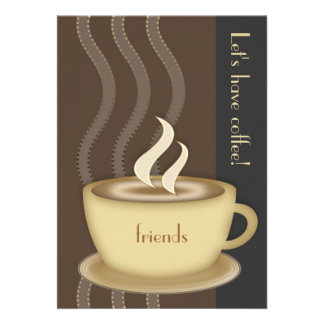 Coffee Cup Large Invitation