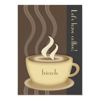 Coffee Cup Large Invitation
