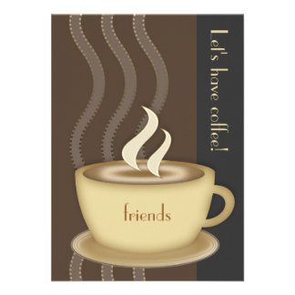 Coffee Cup Medium Invitation