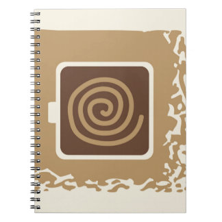 Coffee Cup Modern Vector Illustration Notebook