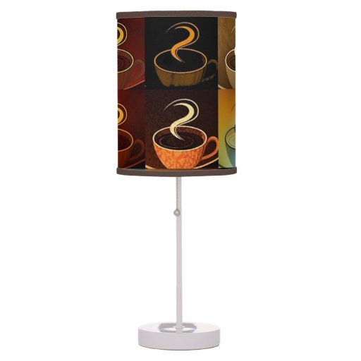 Coffee Cup Montage Table Lamp Zazzle