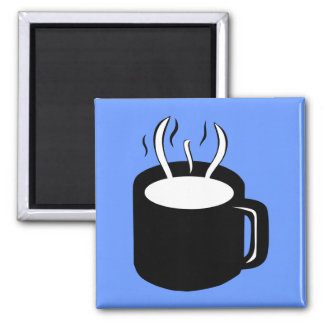 Coffee Cup / Mug - Steaming Hot Drink 2 Inch Square Magnet