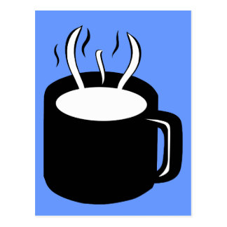 Coffee Cup / Mug - Steaming Hot Drink Postcard