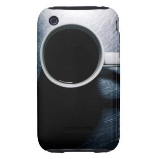 Coffee Cup on Stainless Steel Tough iPhone 3 Covers