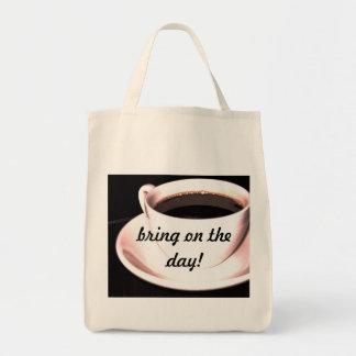 Coffee Cup Organic Grocery Tote Bag