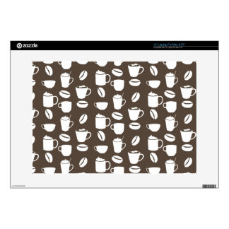 "Coffee cup pattern 15"" laptop decal"