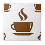 Coffee Cup Pattern Ceramic Tiles