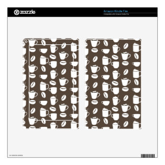 Coffee cup pattern kindle fire skins