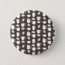 Coffee cup pattern pinback button