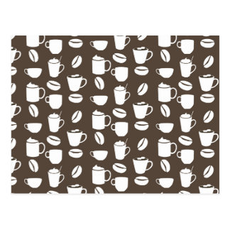 Coffee cup pattern postcard