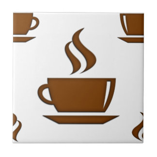 Coffee Cup Pattern Tile