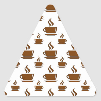 Coffee Cup Pattern Triangle Sticker