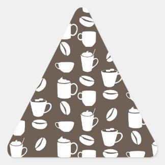 Coffee cup pattern triangle sticker