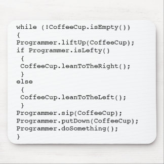 Coffee Cup Programming Mousepad