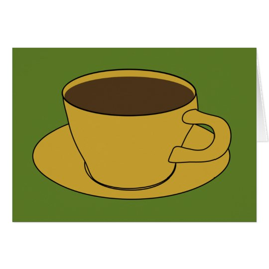 Coffee Cup - Retro Greeting/Note Card