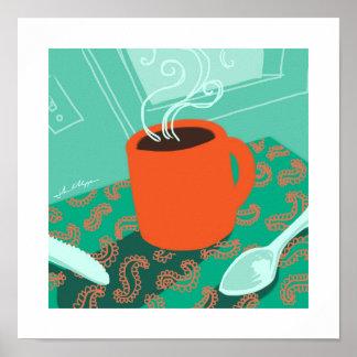 Coffee Cup retro print