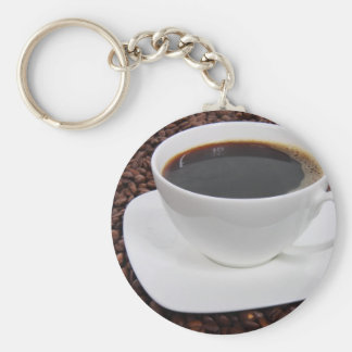 Coffee Cup Roast Delight Basic Round Button Keychain