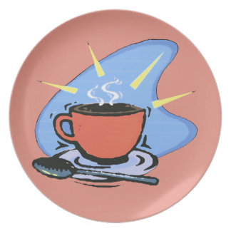 Coffee - Cup, Saucer, Spoon Design Plate