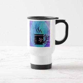 Coffee Cup Silhouette with Flowers Coffee Mug