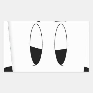 coffee cup sleepy rectangular sticker