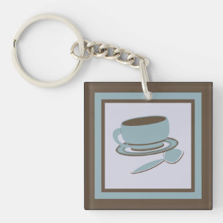 Coffee Cup & Spoon Keychain