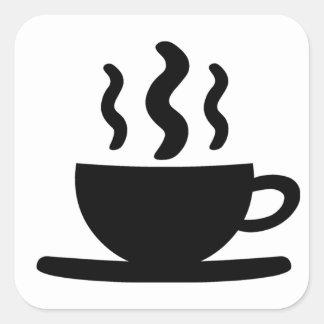 Coffee Cup Square Sticker