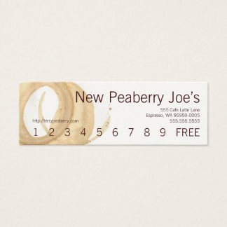 Coffee Cup Stain Loyalty Punch Card