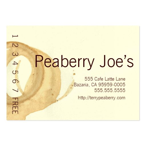 Coffee Cup Stain Punchcard Business Card