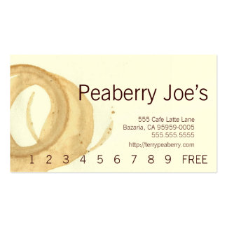Coffee Cup Stain Punchcard Business Cards
