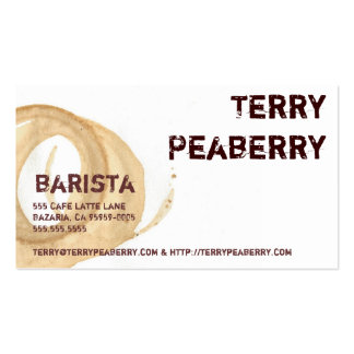 Coffee Cup Stain Shortcut Business Cards