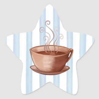 Coffee Cup Star Sticker