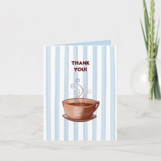 Coffee Cup Thank You Note Card card