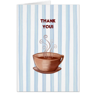 Coffee Cup Thank You Note Card