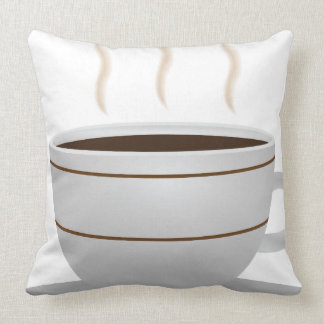Coffee cup throw pillow
