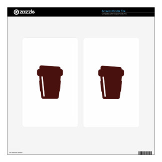 Coffee Cup To go Kindle Fire Decal