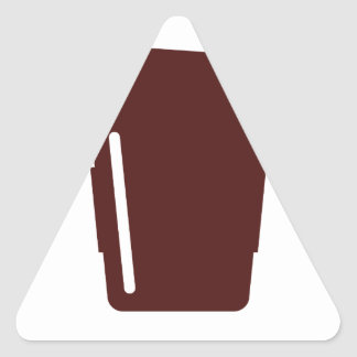 Coffee Cup To go Triangle Sticker